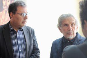 Presidente del Cenal, Raúl Cazal, junto al poeta Luis Alberto Crespo