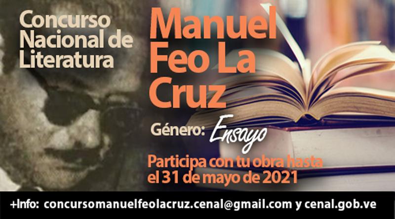 """Abierto concurso de literatura """"Manuel Feo La Cruz"""" en centenario del escritor carabobeño"""